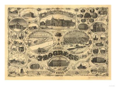 Saint Louis, Missouri - Panoramic Map