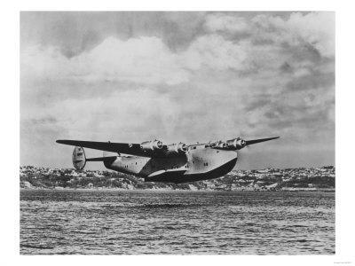 Boeing 314 China Clipper Over Water Airplane Photograph