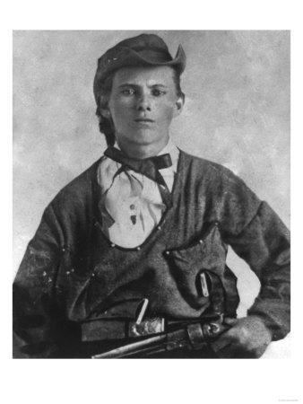 Outlaw Jesse James Portrait Photograph