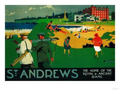 St. Andrews Vintage Poster - Europe