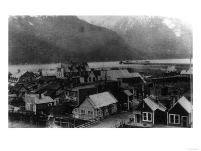 Aerial View of the Town - Hyder, AK