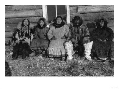 Reindeer Mary and Her Family in Alaska Photograph - Alaska