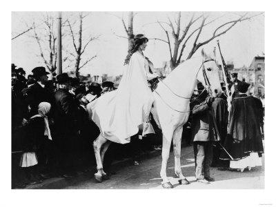 Woman on Horse Woman's Suffrage Parade Photograph - Washington, DC