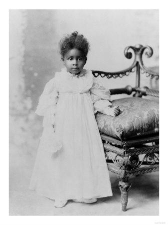 Young African American Girl in White Dress Photograph - Georgia