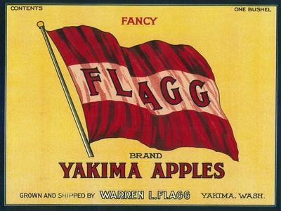 Flagg Apple Label - Yakima, WA