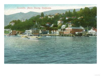 Harborview with Yachts and Sail Boats - Sausalito, CA