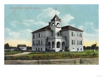 Exterior View of the Grammar School - Yuba City, CA