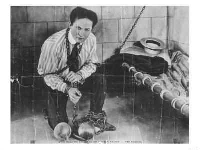 Harry Houdini About to Escape from Prison Photograph