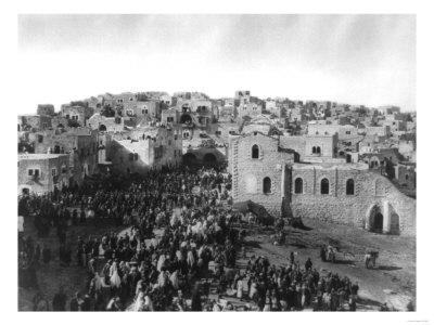 Crowd of Pilgrims in Bethlehem for Christmas Photograph - Bethlehem, Palestine