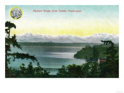 Olympic Range from Seattle, WA - Seattle, WA