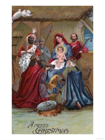 A Merry Christmas - Nativity Scene