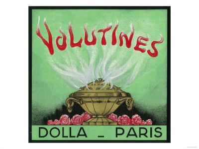 Volutines Perfume Label - Paris, France