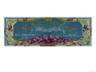 Violette De Cannes Soap Label - Paris, France