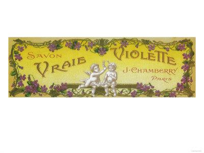 Vraie Violette Soap Label - Paris, France