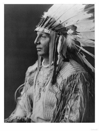 White Shield Arikara Native American Indian Curtis Photograph
