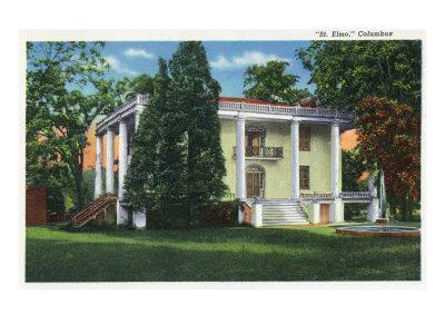 Columbus, Georgia, Exterior View of St. Elmo