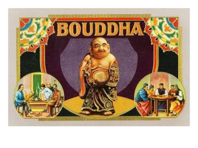 Bouddha Brand Cigar Inner Box Label, Misspelling of Buddha