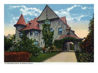 Binghamton, New York, Exterior View of the Kilmer Residence on Riverside Drive