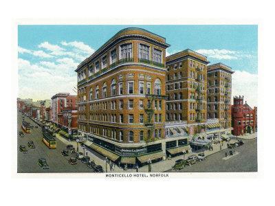 Norfolk, Virginia, Exterior View of the Monticello Hotel
