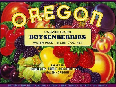 Salem, Oregon, Oregon Boysenberries Label