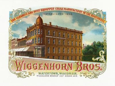 Wiggenhorn Brothers Brand Cigar Box Label