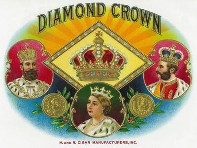 Diamond Crown Brand Cigar Box Label