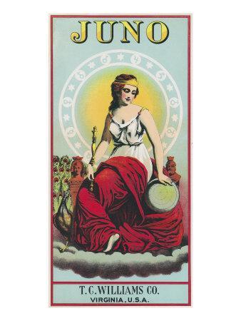 Virginia, Juno Brand Tobacco Label