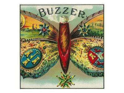 Buzzer Brand Cigar Outer Box Label
