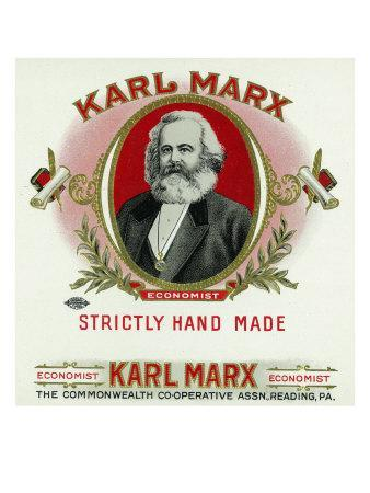 Karl Marx Brand Cigar Box Label, Karl Marx