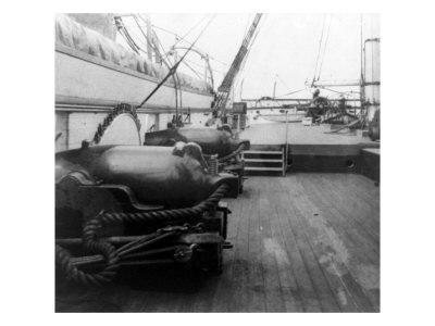 Charleston, SC, Deck of U.S.S. Pawnee, Civil War