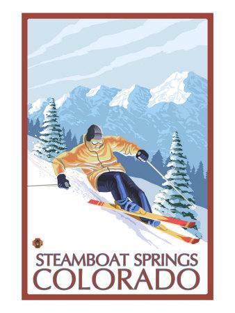 Downhill Skier - Steamboat Springs, Colorado, c.2008