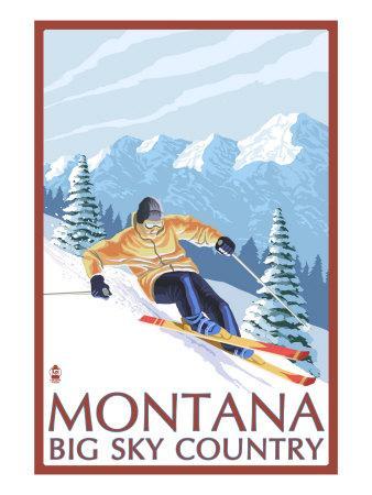 Montana - Big Sky Country - Downhill Skier, c.2008