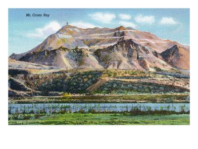 El Paso, Texas - Panoramic View of Mount Cristo Rey, c.1940