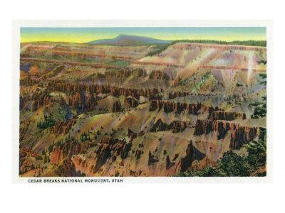 Cedar Breaks Nat'l Monument, Utah - Panoramic View of Cedar Breaks, c.1938