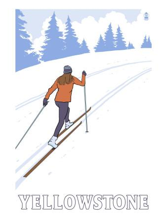 Yellowstone Nat'l Park - Cross Country Skier