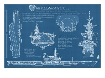 USS Midway Blue Print - San Diego, CA