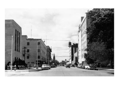 Billings, Montana - Northern View up Third Ave