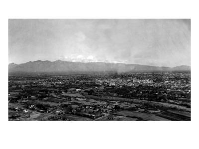 Tucson, Arizona - Panoramic View of City