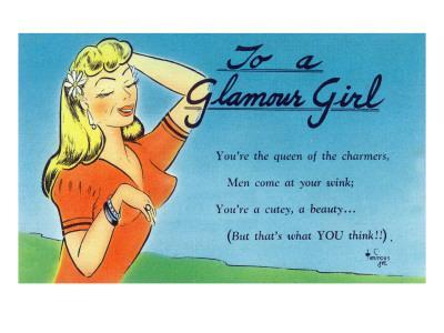 Pin-Up Girls - Glamour Girl Telling Beauties How it Is