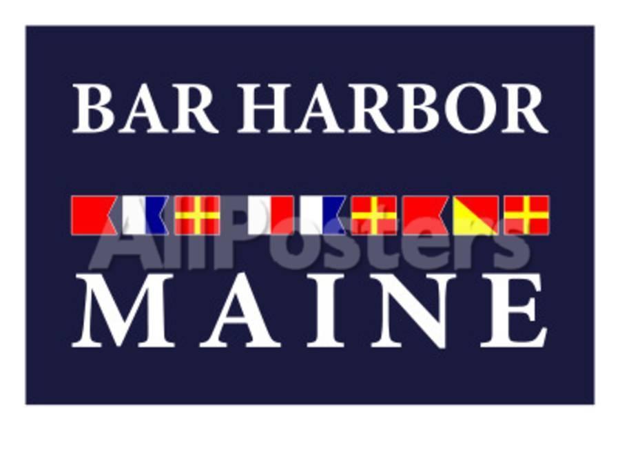 nautical bar decor.htm bar harbor  maine nautical flags poster by lantern press at  bar harbor  maine nautical flags