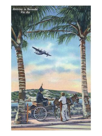 Bermuda - Airplane Arriving on the Island