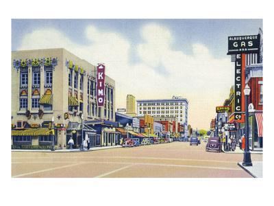 Albuquerque, New Mexico - Eastern View Up Central Avenue