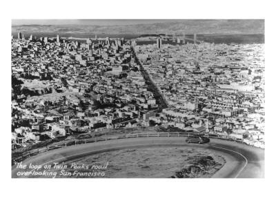 San Francisco, California - City Aerial from Twin Peaks Road Loop