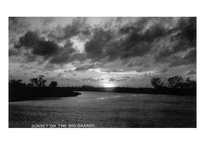 Texas - Sunset on the Rio Grande