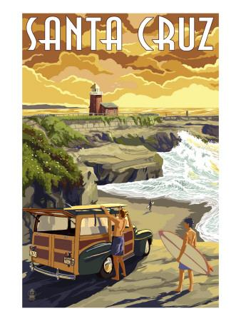 Santa Cruz, California - Woody and Lighthouse