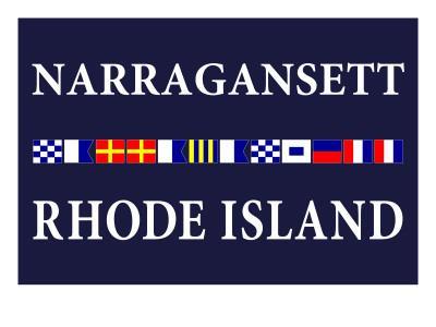Narragansett, Rhode Island - Nautical Flags