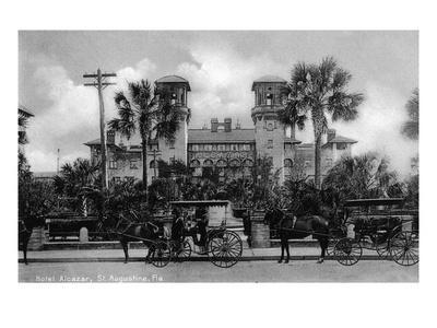 St. Augustine, Florida - Hotel Alcazar Front Entrance View