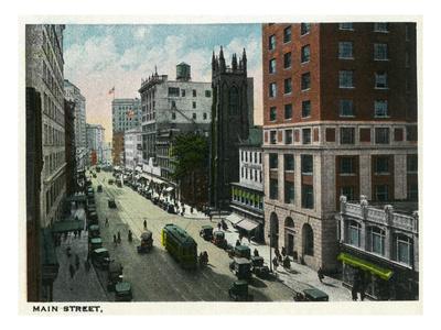 Hartford, Connecticut - Main Street Scene