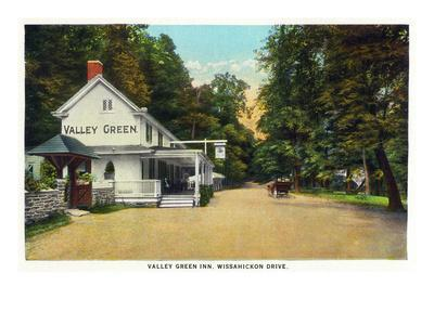 Philadelphia, Pennsylvania - Valley Green Inn, Wissahickon Drive Scene
