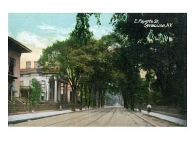 Syracuse, New York - Eastern View Up Fayette Street